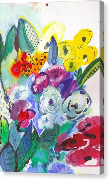 Secret Garden With Wild Flowers Canvas Print