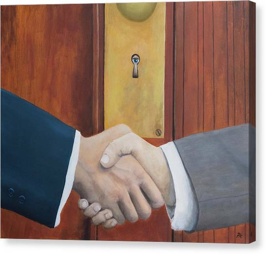 Taylor Swift Canvas Print - Secret Handshake by Patrick Kelly