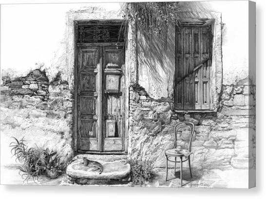Secret Of The Closed Doors Canvas Print