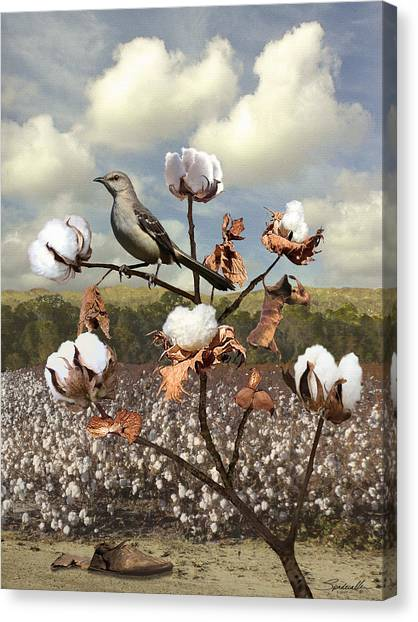 Mockingbird Canvas Print - Secret Of The Mockingbird by Spadecaller