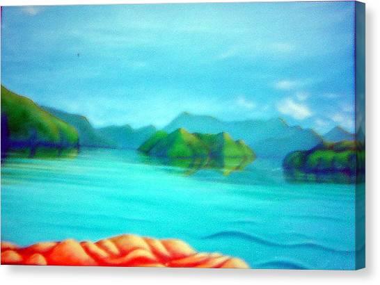 Secret Snapper Spot 1 Canvas Print by Barbara Stirrup