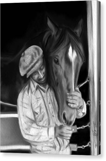 Secretariat And His Groom Canvas Print