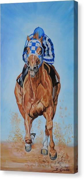 Race Horses Canvas Print - Secretariat by Jana Goode