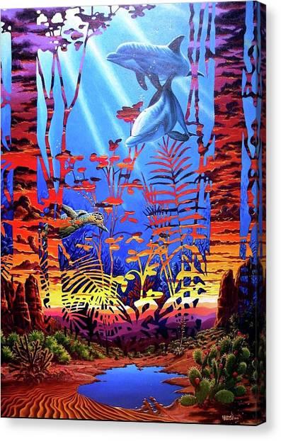 Sedona At Low Tide Canvas Print