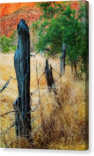 Sedona Fence And Field Canvas Print