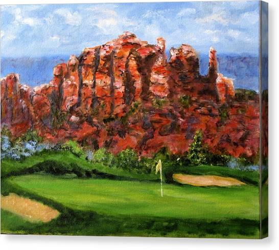 Sedona Golf Canvas Print by Thomas Restifo