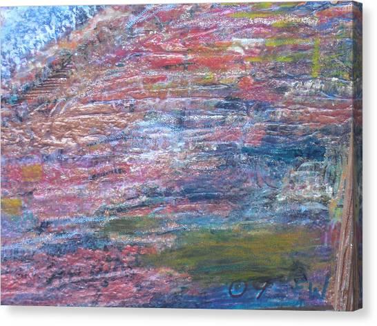 Sedona Mesa Strata  Canvas Print by Anne-Elizabeth Whiteway