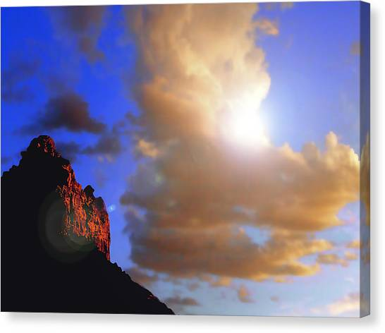 Sedona Mountain Cloud Sun Canvas Print