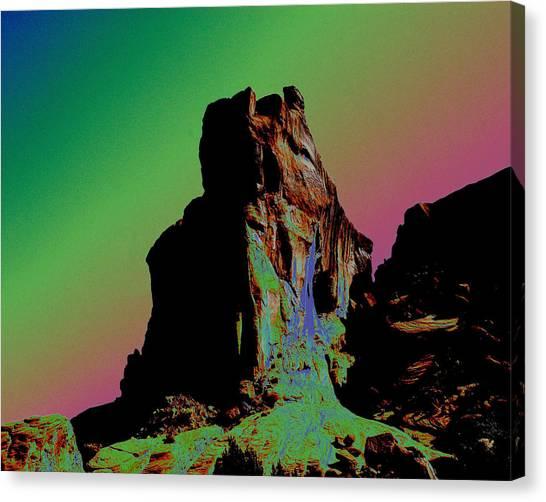 Sedona Solarized Canvas Print by Barry Shaffer