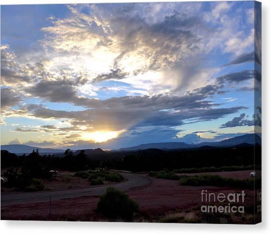 Sedona Sunset Sky Canvas Print