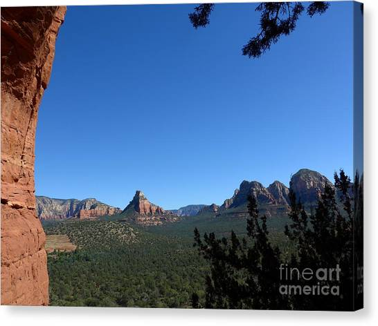 Sedona View From Cave Canvas Print