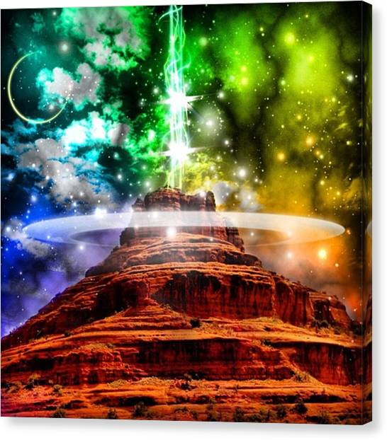Ufos Canvas Print - #sedona Vortex by Gary Sumner