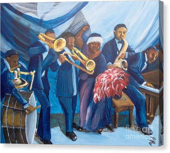 Canvas Print featuring the painting See The Music by Saundra Johnson