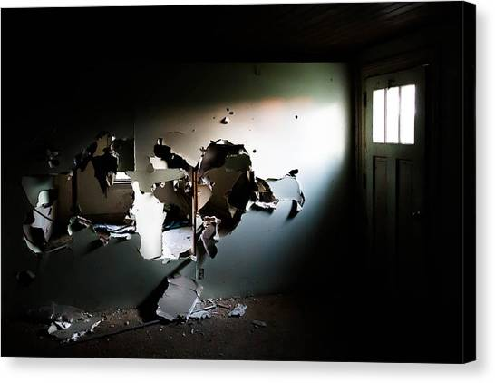 Drywall Canvas Print - See Through by Lisa Beard Art