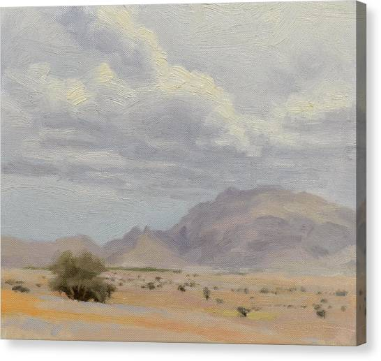 Arabian Desert Canvas Print - Seeded Clouds by Ben Hubbard