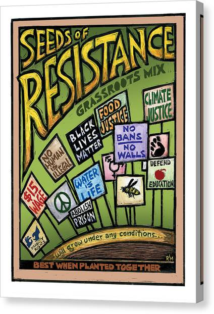 Seeds Of Resistance Canvas Print by Ricardo Levins Morales