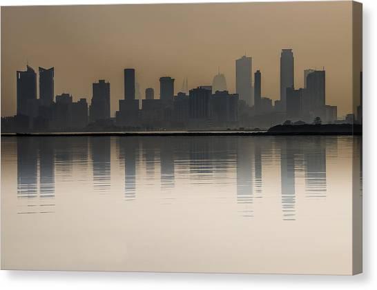 Gcc Canvas Print - Seef At Sunrise Over The Sea by John Grummitt