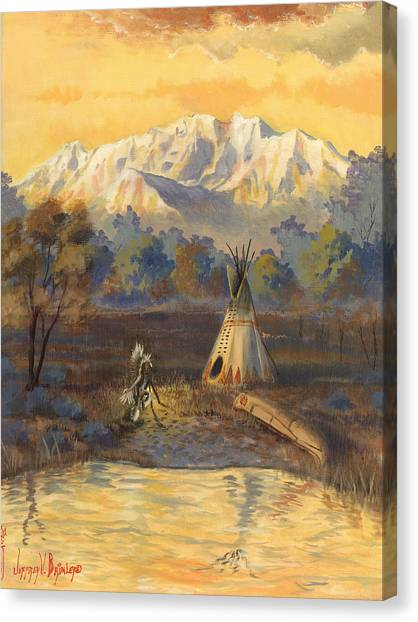 Canoe Canvas Print - Seeking The Divine by Jeff Brimley