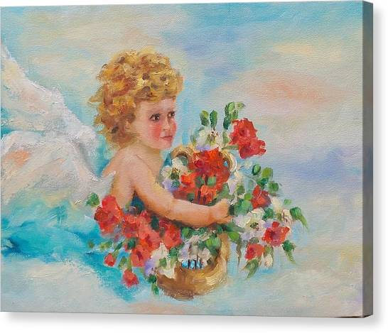 Chi Omega Canvas Print - Seeking The Heights by Susie Monzingo