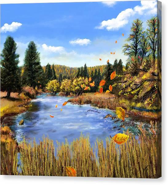 Seeley Montana Fall Canvas Print