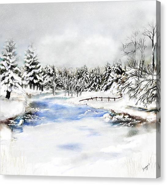 Seeley Montana Winter Canvas Print