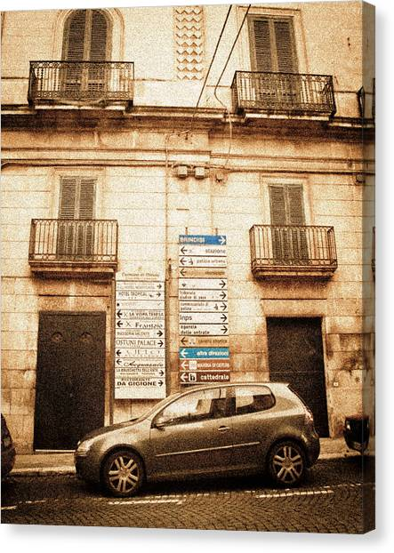 Segnali Stradali Canvas Print