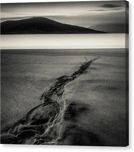 Seilebost Sand Tracks Canvas Print