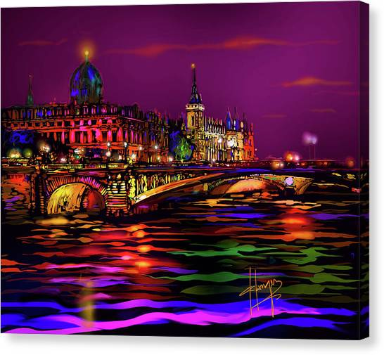 Seine, Paris Canvas Print