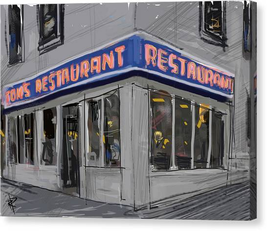 Seinfeld Restaurant Canvas Print