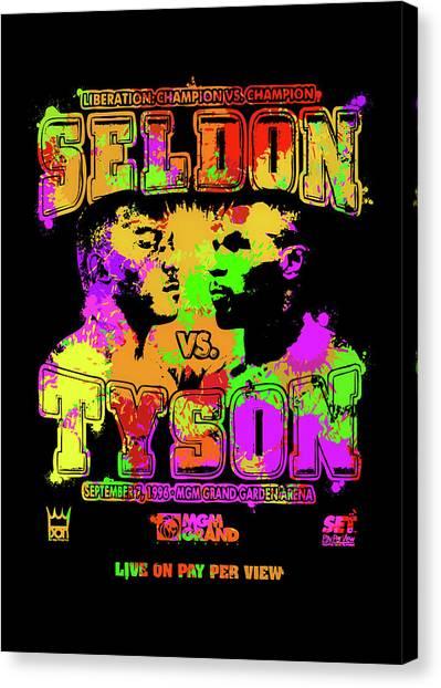 Mike Tyson Canvas Print - Seldon Tyson Pop Art by Ricky Barnard