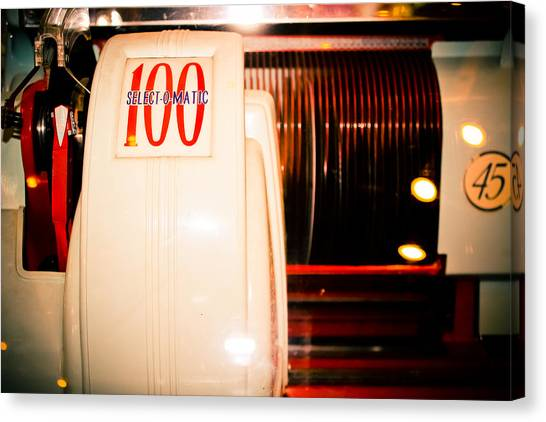 Jukebox Canvas Print - Select-o-matic 100 by Colleen Kammerer