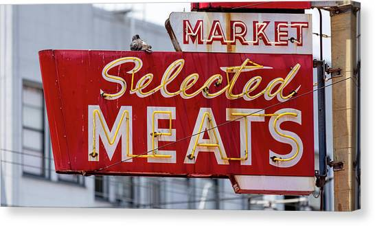 Selected Meats Canvas Print