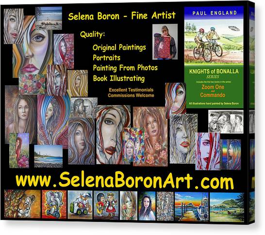 Selena Boron Photo Card 1 Canvas Print