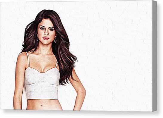 Taylor Swift Canvas Print - Selena Gomez by Queso Espinosa