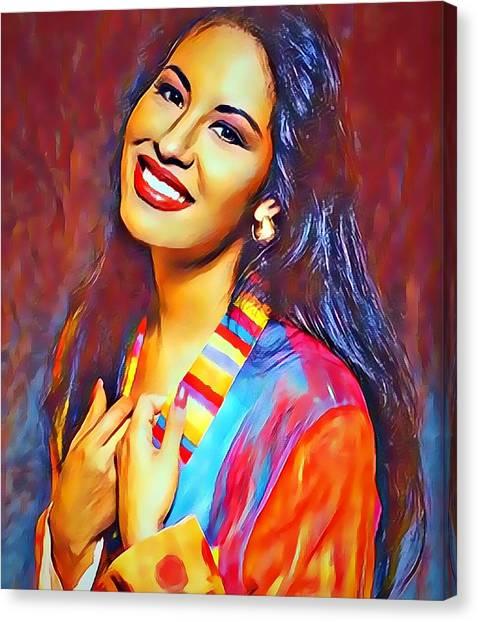 Selena Queen Of Tejano  Canvas Print