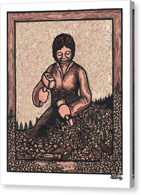 Self Made Woman Canvas Print by Ricardo Levins Morales