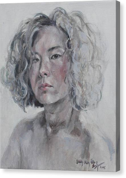 Becky Kim Artist Canvas Print - Self Portrait 1501 by Becky Kim