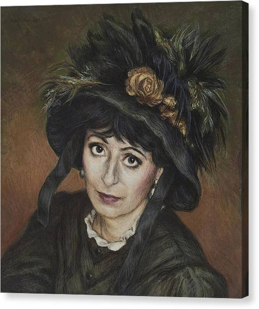Self-portrait A La Camille Claudel Canvas Print