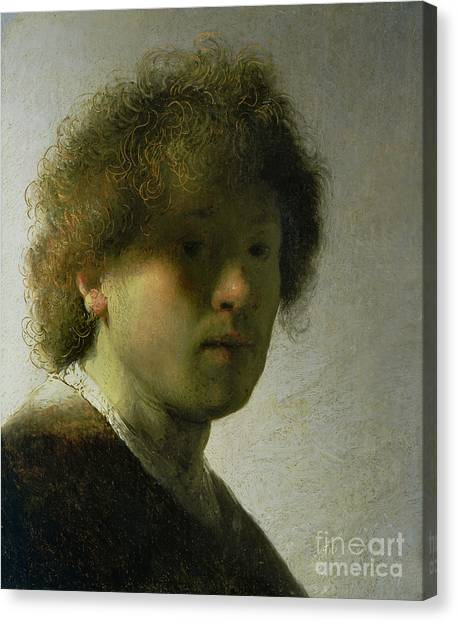 Rembrandt Canvas Print - Self Portrait As A Young Man by Rembrandt
