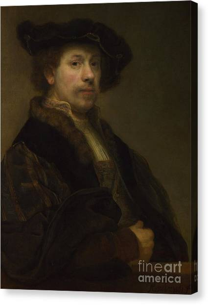 Rembrandt Canvas Print - Self Portrait At The Age Of Thirty Four by Rembrandt Harmensz van Rijn