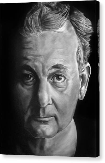 Self Portrait - If I Looked Like Bill Murray Canvas Print