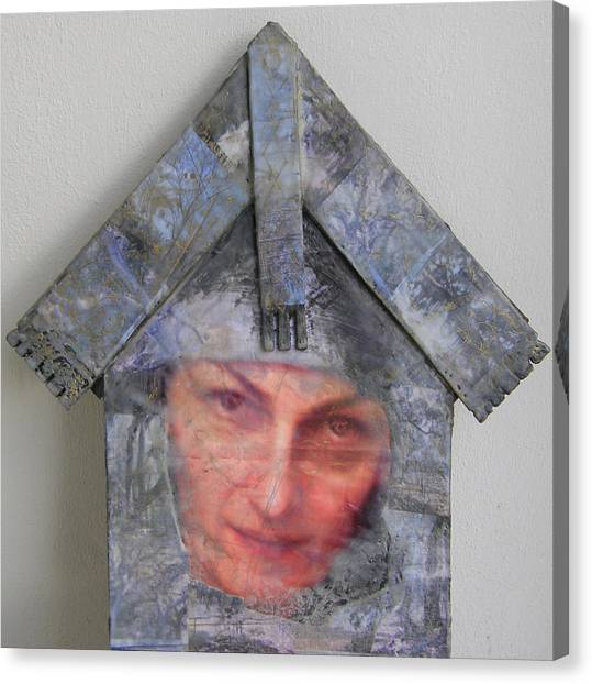 Self-portrait In A Russian House Canvas Print
