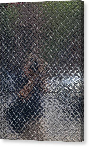 Self Portrait In Steel Canvas Print
