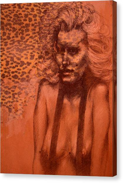 Self Portrait Canvas Print by J Oriel