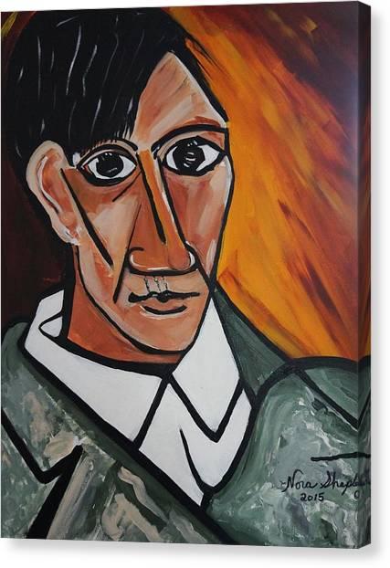 Self Portrait Of Picasso Canvas Print