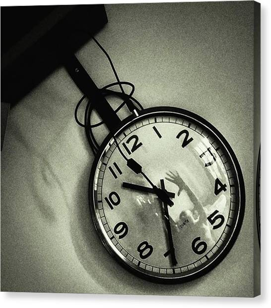 Hands Canvas Print - Self-portrait On My Clock #clock #time by Rafa Rivas