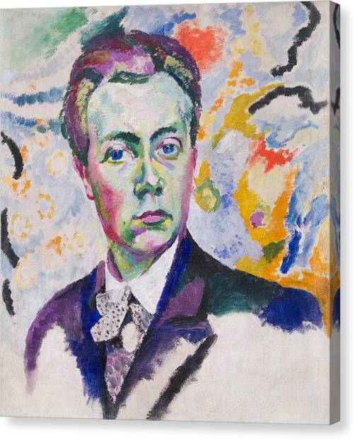 Divisionism Canvas Print - Self-portrait by Robert Delaunay