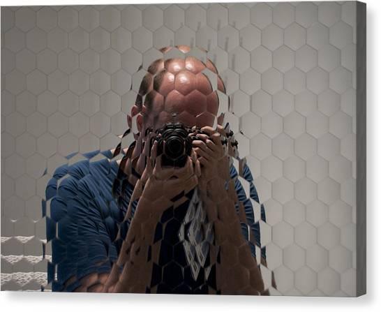 Self-portrait Through A Compound Eye  Canvas Print by Gary Chapple