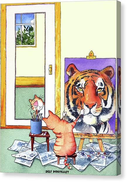 Portrait Canvas Print - Self Portrait, Tiger by Jim Tweedy