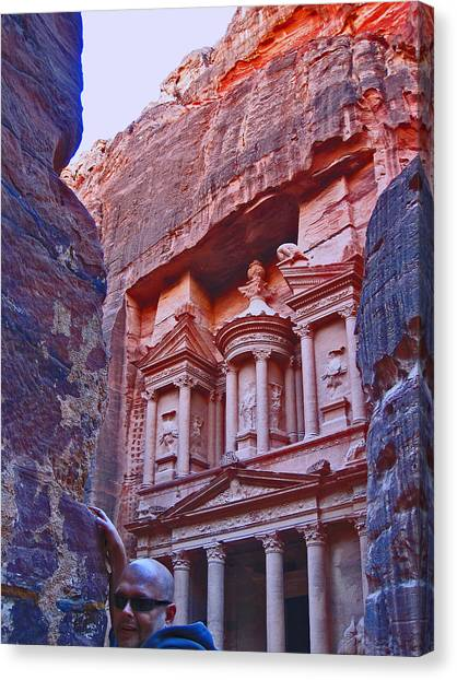 Mortal Kombat Canvas Print - Selfie. Petra. Jordan.  by Andy Za